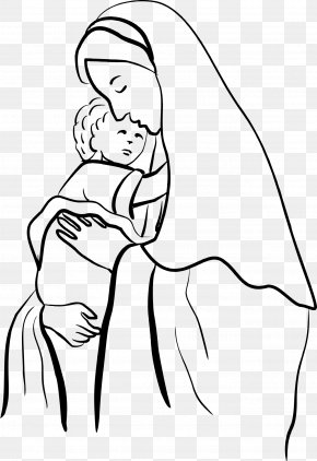 Mary - Gabriel Child Jesus Mother Coloring Book Nativity Of Jesus PNG