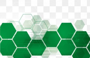 Green Hexagon Technology Background Vector Material - Nutrition Blood Type Diet Eating Health PNG