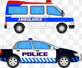 Ambulance Police Car - Police Car Clip Art PNG