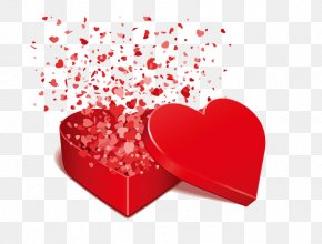 Love Gift - Valentines Day Love Heart Greeting Card Romance PNG