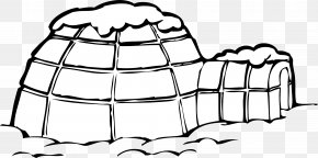 Backyard Snow Cliparts - Igloo Coloring Book Eskimo Connect The Dots Page PNG