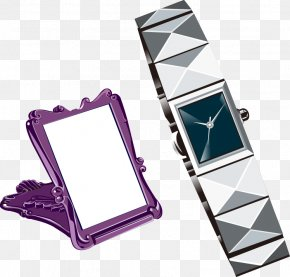 Vector Pattern Watches Mirror - Fashion Accessory Clothing PNG