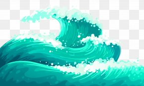 Blue Atmosphere Wave Pattern - Wind Wave Dispersion Clip Art PNG