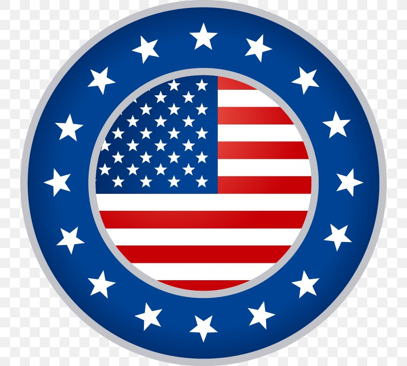 Flag Of The United States Flag Patch, PNG, 738x738px, United States, Area, Badge, Blue, Flag Download Free