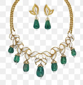 Emerald Products In Kind - Emerald Jewellery Earring Necklace Jewelry Design PNG
