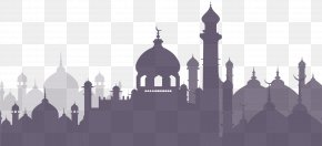 Purple Islamic Architecture Complex - One Thousand And One Nights Arabian Night Islam Clip Art PNG