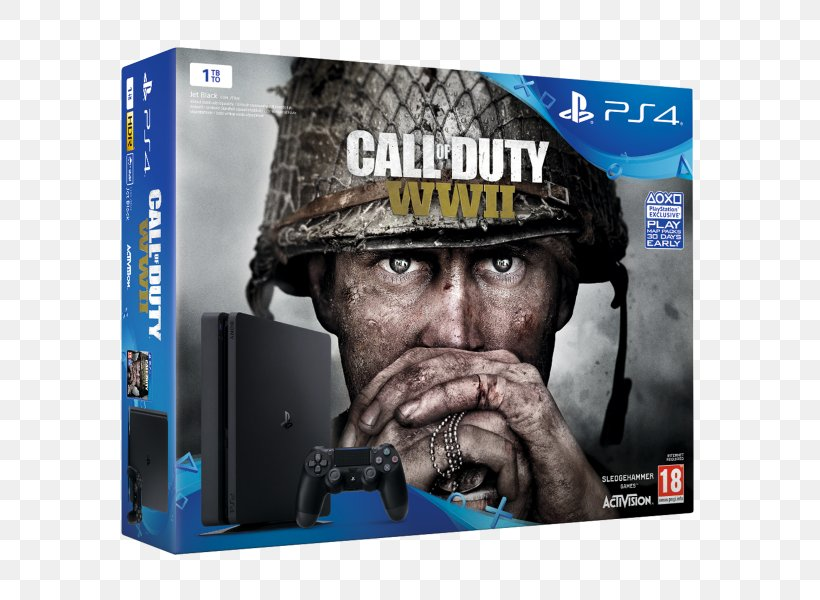 Call Of Duty: WWII FIFA 18 Sony PlayStation 4 Slim That's You! Video Game Consoles, PNG, 600x600px, Call Of Duty Wwii, Brand, Call Of Duty, Electronic Device, Fifa Download Free