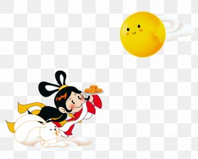 Chang E Rabbit - Chang'e Mid-Autumn Festival Moon Rabbit PNG