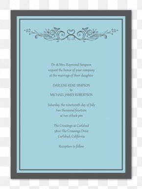 BLUE WEDDING INVITATION - Wedding Invitation Picture Frames Convite Font PNG
