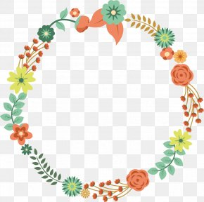 Floral Wreath - Flower Vector Graphics Image Clip Art PNG