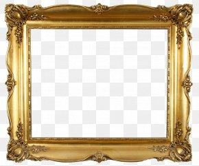 Golden Photo Frame - Picture Frame Decorative Arts Mirror Interior Design Services Furniture PNG