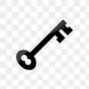 Svg Icon Key - Skeleton Key Lock Clip Art PNG