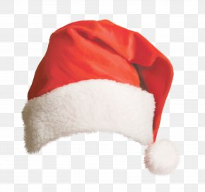 Beautiful Red Christmas Hat - Santa Claus Christmas Hat Bonnet PNG
