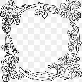 Rose Border Frame - Art Nouveau Art Deco Picture Frames Clip Art PNG