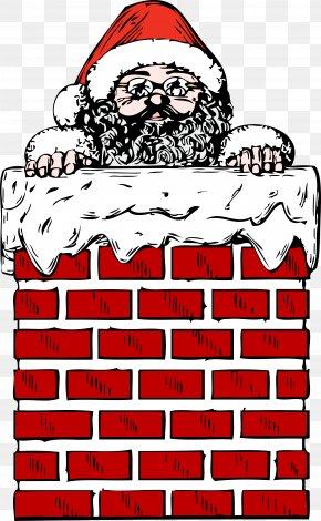 Vector Chimney - Santa Claus Chimney Christmas Fireplace Clip Art PNG