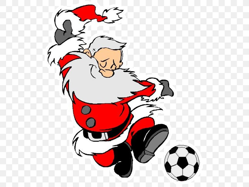 CHRISTMAS SANTA AND REINDEER FOOTBALL