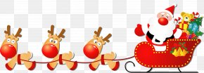 Sale Sticker - Santa Claus's Reindeer Santa Claus's Reindeer Sled Christmas PNG