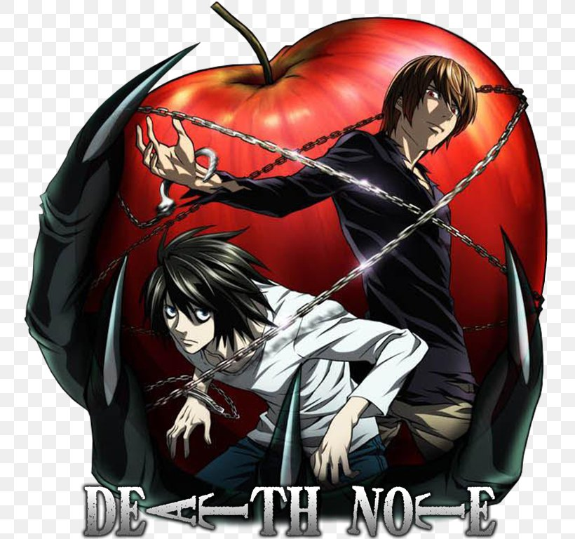 Light Yagami Rem Ryuk Death Note Png 768x768px Watercolor