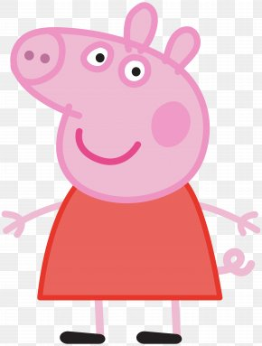 Peppa Pig Transparent Image - Daddy Pig Mummy Pig Standee Animated Cartoon PNG