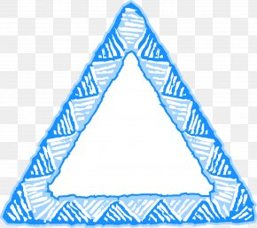 Triangle - Triangle Blue Picture Frames PNG
