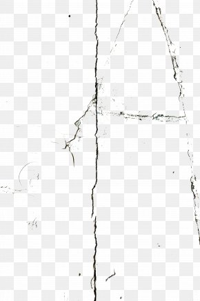 Wall Crack Line Shape - White Symmetry Pattern PNG