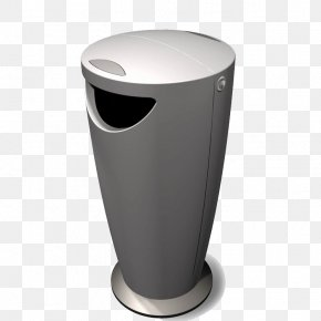 Gray Trash Can - Waste Container Plastic Molding Recycling PNG