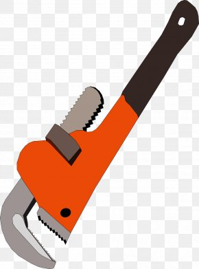 Orange Multifunction Wrench - Hand Tool Pipe Wrench Adjustable Spanner Plumber Wrench PNG