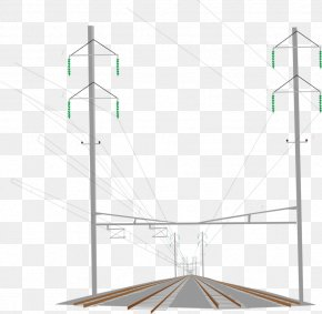 High Speed ​​rail - Overhead Power Line Public Utility Angle PNG