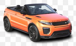 Orange Land Rover Range Rover Evoque Convertible Car - Range Rover Evoque Prox Luxury Car Rental L.L.C. Audi A5 Dubai PNG