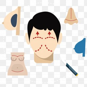 Vector Art Character Face - Painting Art Illustration PNG