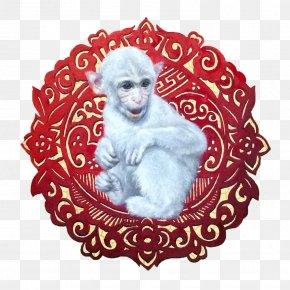 White Monkey - Ape Monkey White PNG
