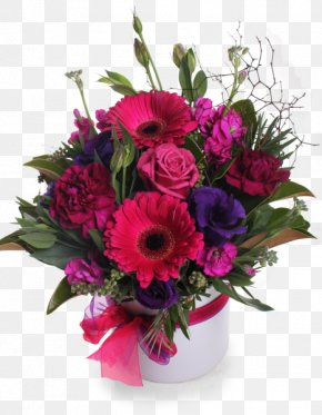 Pink And Purple Floral - Garden Roses Floral Design Cut Flowers Flower Bouquet Transvaal Daisy PNG