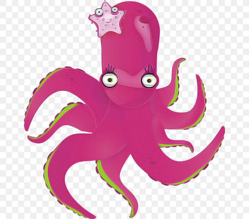 Octopus Giant Pacific Octopus Pink Octopus Magenta, PNG, 662x720px, Octopus, Giant Pacific Octopus, Magenta, Pink Download Free