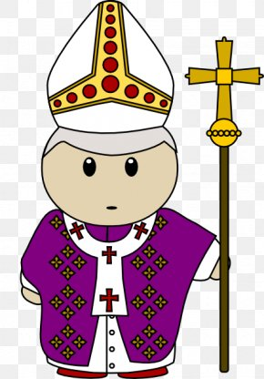Pope Cliparts - Pope Priest Catholic Church Clip Art PNG