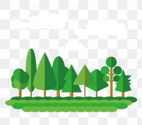 Vector Forest - Flat Design Forest Tree PNG