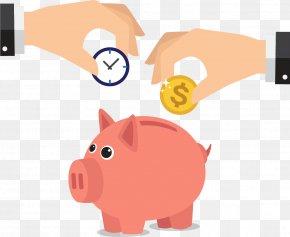 Pink Piggy Banks - Piggy Bank Saving Money PNG