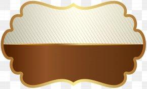 Label Template Brown Clip Art Image - Template Label Résumé Paper Microsoft Word PNG