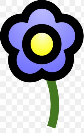 Blue Flower Clip - Flower Free Content Clip Art PNG