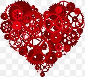 Creative Gear Heart - Gear Heart T-shirt Cardiovascular Disease Gold PNG