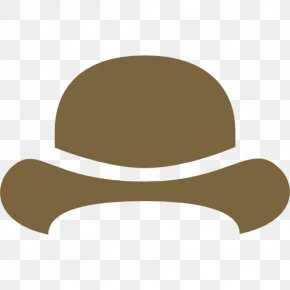 Hat - Bowler Hat Blue Clip Art PNG