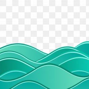 Background With Abstract Waves - Wind Wave Euclidean Vector Wave Vector Sea PNG