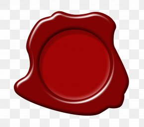 Red Wax Seal - Red Circle Font PNG