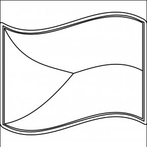 Blank White Cliparts - White Flag Black And White Clip Art PNG