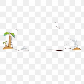 Lighthouse Coconut Tree Decoration - Tree Coconut Tile Cartoon PNG