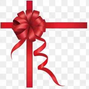 Red Ribbon Bow - Paper Ribbon PNG
