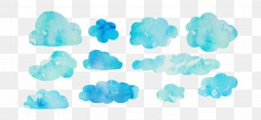 Watercolor Clouds - Watercolor Painting Cloud Euclidean Vector PNG