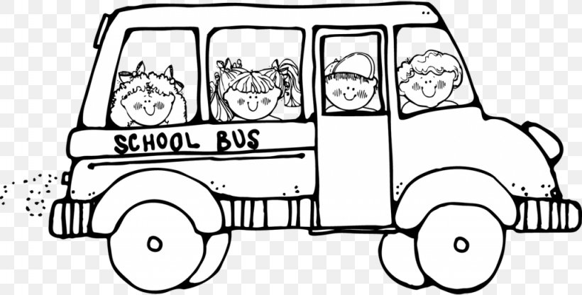 School Bus Black And White Clip Art Png 1024x520px Bus Area