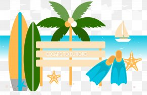 A Summer Vacation; A Vacation - Holiday Poster Clip Art PNG
