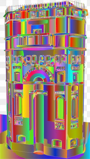 Old Water Tower - Chicago Water Tower Openclipart Clip Art Remix Image PNG