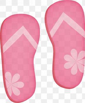 Material Property Magenta - Footwear Pink Flip-flops Slipper Shoe PNG